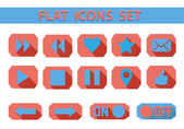 Flat web icons set. — Stockvector