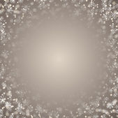 Christmas background with snowflakes and hoarfrost. — Stock Vector
