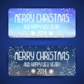 Happy New Year and Christmas greeting cards. — Stock Vector