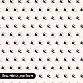 Seamless pattern with bird — Stock Vector