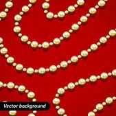 Golden beads. — Stock Vector