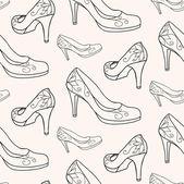 Fashion women's High heel shoes — Stock Vector