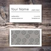 Business card template with  white and black pattern — Wektor stockowy