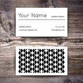 Business card template with  white and black pattern — Stockvektor