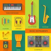 Musical instruments  icons. — Stock Vector