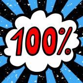 100 percent sale — Stock Vector