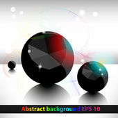 Abstract geometric background with balls. — Stock Vector