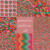 Geometric patterns set. — Vector de stock