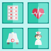 Medical icons in minimalistic style. — Stock Vector