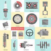 Auto spare parts — Stock Vector