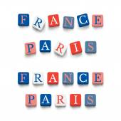 Words france, paris — Stockvector