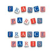 Words france, paris — Stock Vector