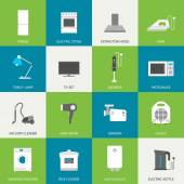 Household flat icons — Stock vektor