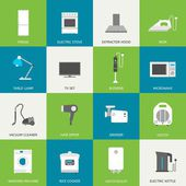 Household flat icons — Stockvektor