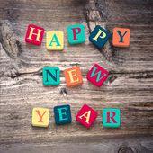 Words happy New Year — Stock Vector