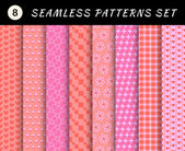 Love seamless patterns set. — Stock Vector