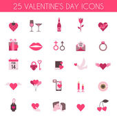 Valentine's Day and wedding icons — Vector de stock