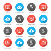 Cloud computing icons. — Stock Vector