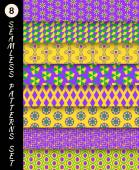 Mardi gras  patterns — Vector de stock