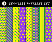 Mardi gras geometric patterns — Vector de stock