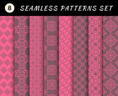 Love seamless patterns set. — Stockvektor