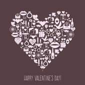 Valentines Day mosaic icons — 图库矢量图片