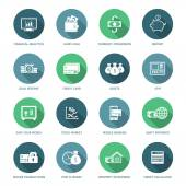 Finance and money icons — Stock Vector