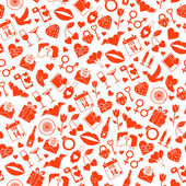 Valentines Day Love  pattern — Stock Vector