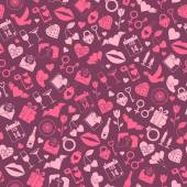 Valentines Day Love seamless pattern — Stock Vector