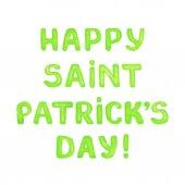 Saint Patricks day greeting card — Stock Vector