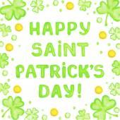 Saint Patricks day card — Stock Vector