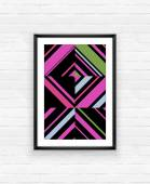 Boho chic poster frame — Stock Vector