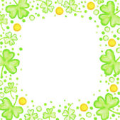 St. Patricks Day frame — Stock Vector