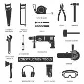 Construction tools set — Stock Vector