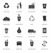 Recycling and garbage icons — Stock Vector