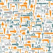 Construction tools seamless pattern — Stock Vector