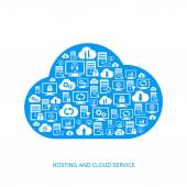 Cloud service icons — Stock Vector