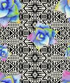 Mexican seamless pattern with watercolor succulents — Vetor de Stock