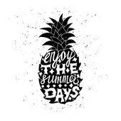 Reizen poster met ananas — Stockvector