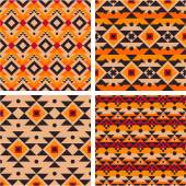 Tribal seamless patterns — Stock Vector