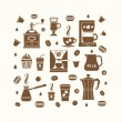Coffee icons set in minimalistic style — Stock Vector #73351177