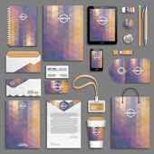 Corporate identity template set — Stock Vector