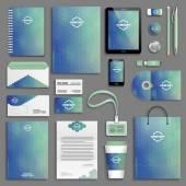 Corporate identity template set — Stock Vector