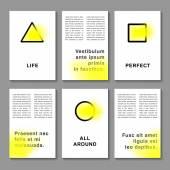 Brochure abstract design — Stock Vector