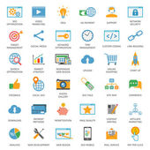SEO optimization icons — Stockvektor