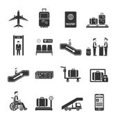 Airport travel icons — Stock Vector
