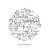 Recycling icon concept — Stock Vector