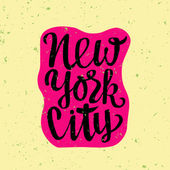 Poster with New York city inscription — Stock Vector