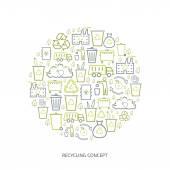 Recycling icon concept — Stock Vector