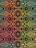 Motif tribal aztèque — Vecteur